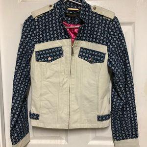 Jackets & Blazers - Denim White Jacket Rockawear Leather   Fitted